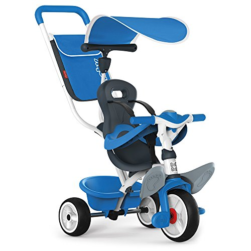 Smoby - Tricycle Baby Balade Bleu - Vélo Evolutif...