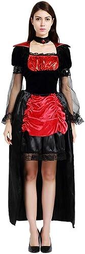 Shisky Costume Cosplay Femme, Vampire sorcière Longue Jupe Cosplay Costume Cosplay Costume