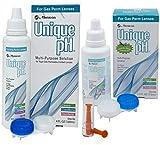 Menicon Unique pH Multi-Purpose Solution 4 Oz, Unique pH Travel Pack 2.5 Oz and DMV Lens Remover, Bundle of 3 Items
