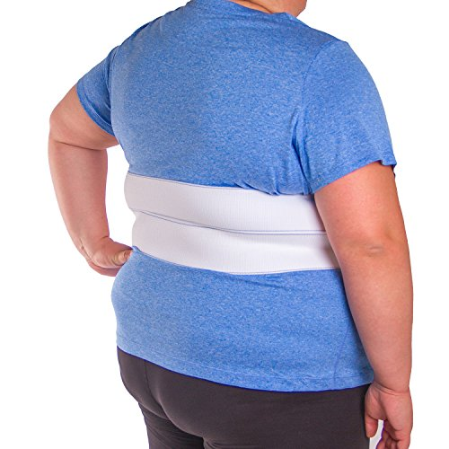 BraceAbility Broken Rib Brace   Elastic Chest Wrap Belt for Cracked, Fractured or Dislocated Ribs Protection, Compression and Support
