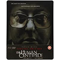 The Human Centipede (First Sequence) + (Full Sequence) 4-disc Special Ltd Edition Dual Format (Blu-ray & DVD) SteelBook [Reino Unido] [Blu-ray]