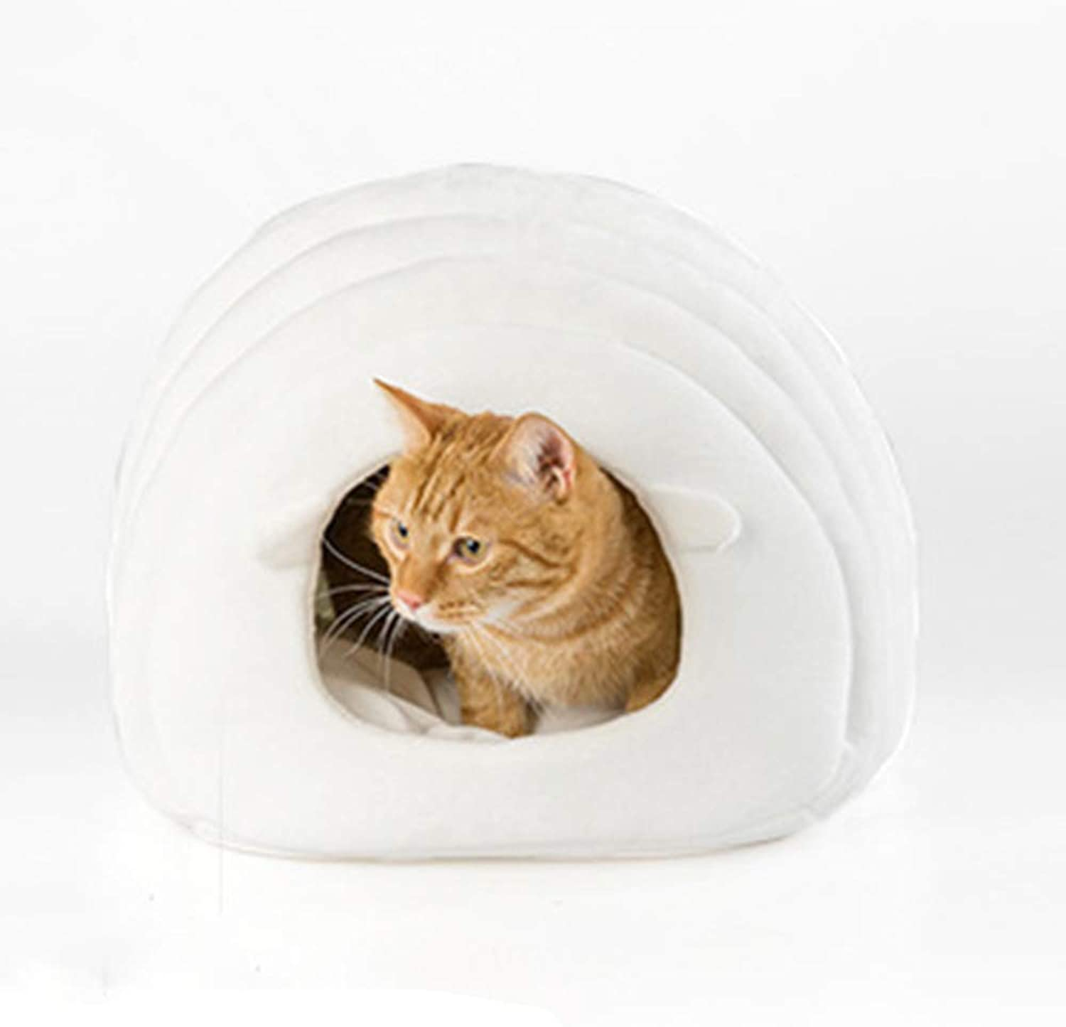 Pet House Autumn and Winter Cat Bed Semined Pet Nest 38X42X33cm