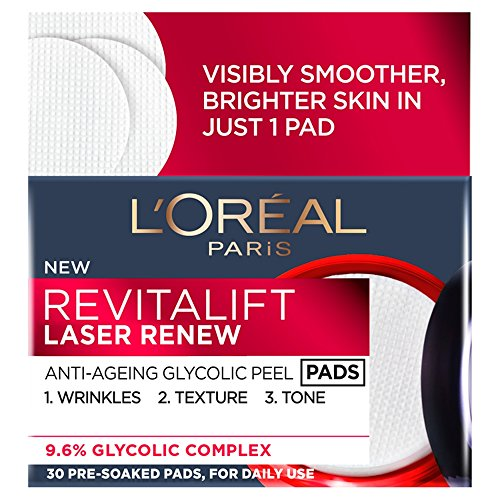 L' Oreal Revitalift laser Renew anti invecchiamento Glycolic Peel Pads