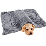 Xcoor Extra Warm Pet Blanket for Dog Cat Long Fur Plush Cover for Puppy Furry Throw Fluffy Fuzzy Kitten on Bed Couch Car Seat Sleep Mat 29'x39' Grey