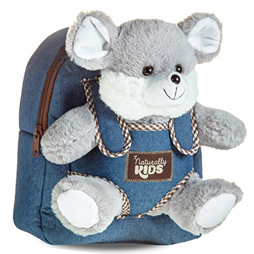 Toddler Mouse Rat Stuffed Animal Backpack Girls Boys Kids - Toys for 2 3 4 5 6 year old Girls Boy - 2-6 Year Old Girl Birthday Gift - Toddler Toys Boys Age 2 yr - Preschool Backpack - Plush Mouse Rat