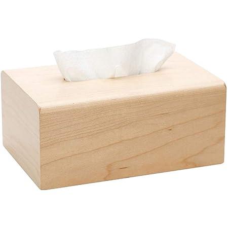 [ジンニュウ] ウッド ティッシュケース ティッシュボックス ティッシュケース おしゃれ インテリア ティッシュカバー ティッシュ 箱 ケース シンプル 写真通り F