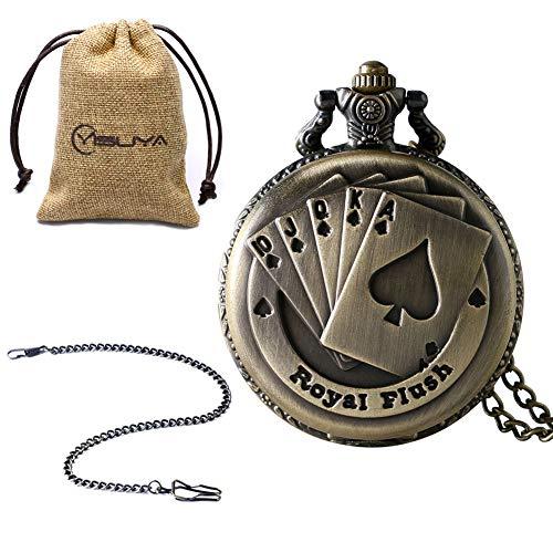 Reloj de Bolsillo Vintage de Navidad para Hombre, Cobre Bronce, Reloj de...