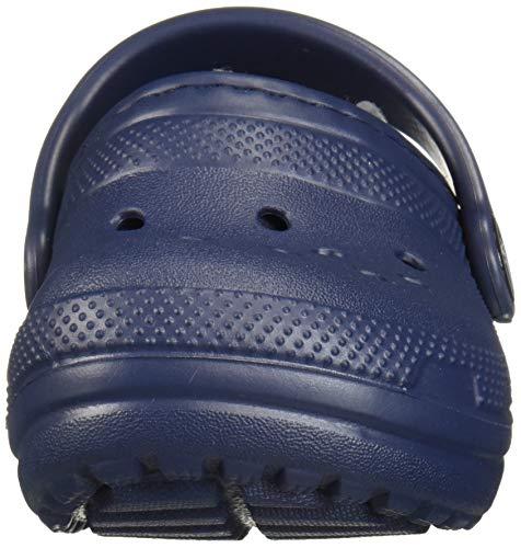 Crocs Kids' Classic Lined Clog | Kids' Slippers, Navy/Charcoal, 1 Little Kid