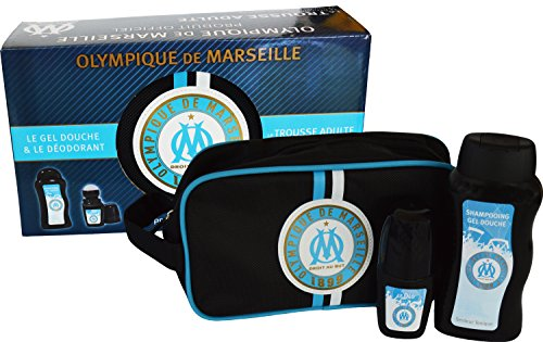 Olympique de Marseille Kulturbeutel + Duschgel + Deodorant