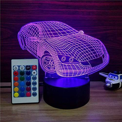 Heißes led nachtlicht, 3d visuelle schreibtischlampen mit 7 farbwechsel lichter touch oder taste, auto form beste geschenk für kinder
