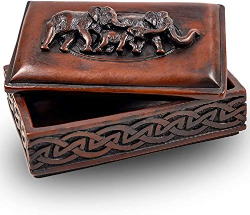IYARA CRAFT elephants storage small boxes chest Jewelry Box Case Perfect for women gifts to store earrings ring necklace for table decorative vintage treasure organizer at home design for unique items