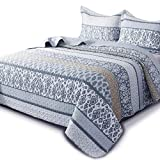 KASENTEX Country-Chic Printed Pre-Washed Quilt Set -...