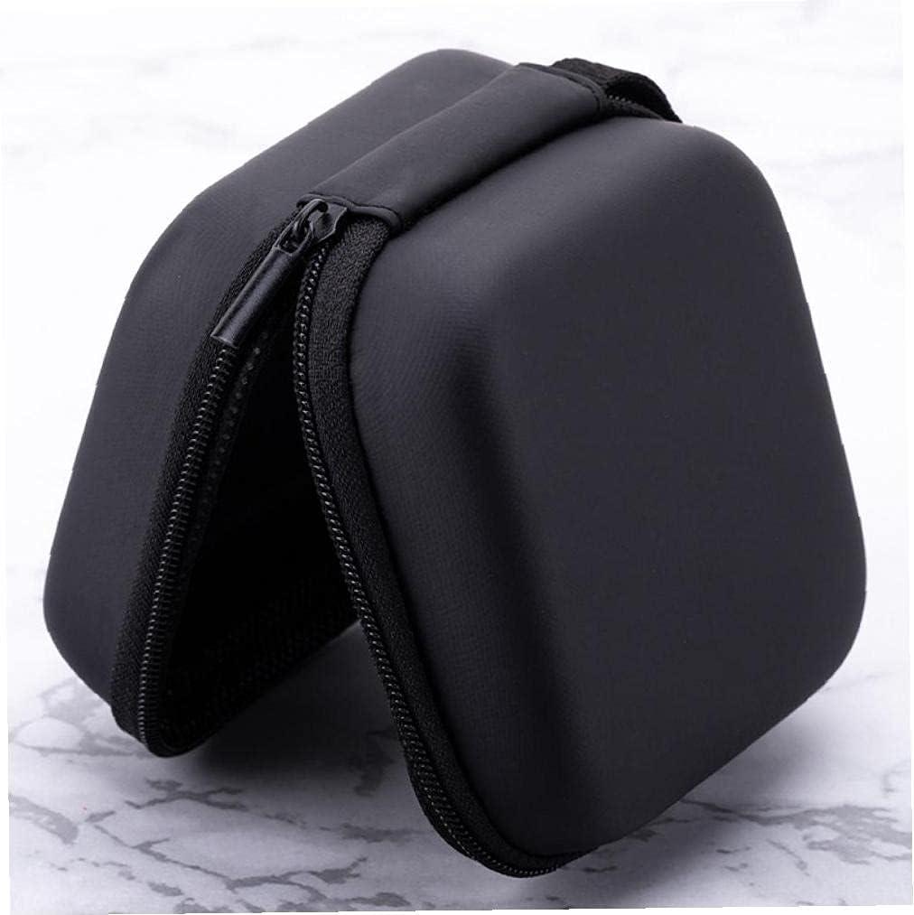 Data Cable Storage Bag Electronics Organizer with Zipper Storage Digital USB Gadget Bag Black