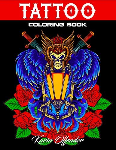 Tattoo Coloring Book Stress Relieving With Awesome Sexy And Relaxing Tattoo Designs For Adult product image