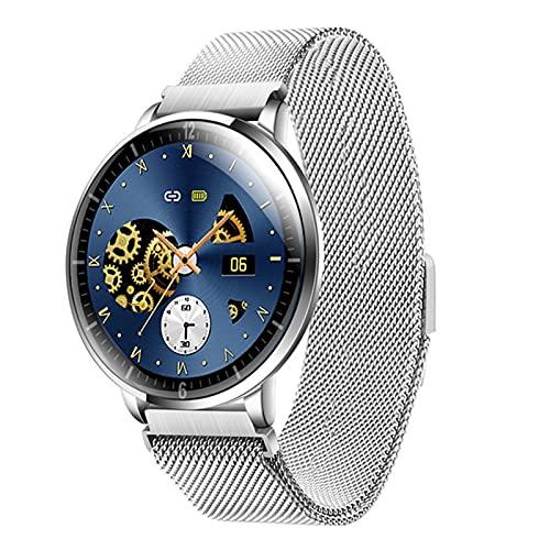 zyz Z58 Smart Watch Pantalla Completa Ultra Delgada, Ritmo Cardíaco Y Monitoreo De La Presión Arterial, Rastreador De Fitness, Relojes A Prueba De Agua Y Relojes para Mujeres,Plata