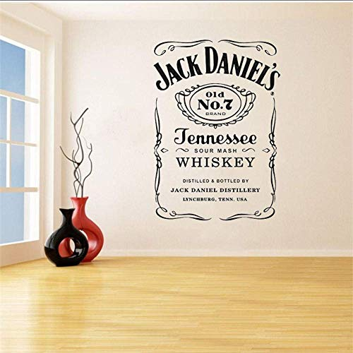 Jack Daniels Muursticker Jd Wall Art Sticker Jennesse Whisky Carving Quote Muursticker Afneembare decoratie voor thuis 57 x 78 cm