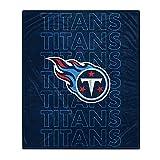 Pegasus Sports NFL Echo Team Wordmark Plush Blanket- Tennessee Titans Team Color 60x70