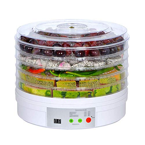 Best Buy! IhDFR Food Dehydrator Fruit Dryer Machine Electric 5 Tier Food Preserver for Yogurt Proces...