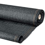 ProBache - Brise vue renforcé 1 x 10 m gris 220 gr/m² luxe pro