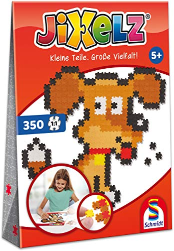 Schmidt Spiele 46111 Jixelz, Hund, 350 Teile, Kinder-Bastelsets, Kinderpuzzle