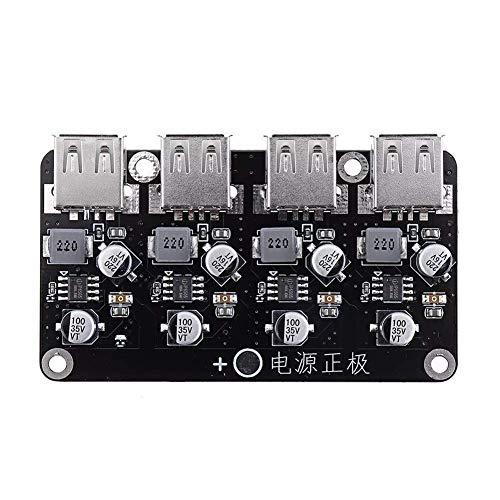 ZYL-YL 12V 24V 4 USB Módulo de carga rápida Junta 12V24V a QC2.0 QC3.0 Paso abajo Fuente de alimentación Alta eficiencia Módulo Accesorios Descripción: Receptores de módulo