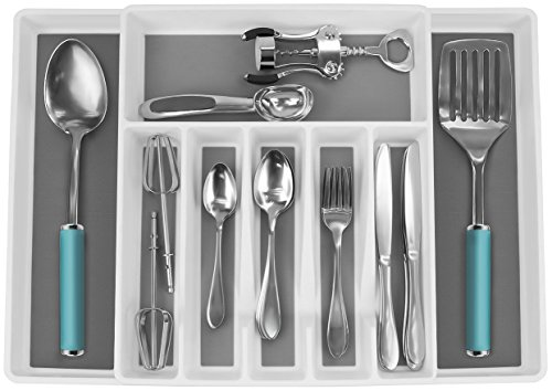 Sorbus Flatware Drawer Organizer With Expandable Cutlery Drawer Trays for Silverware, Serving Utensils.