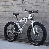 24 '/ 26' bicicletas de montaña, bicicletas de la rueda grande de la nieve, 24 velocidades de doble freno de disco, fuerte con amortiguador delantero Tenedor, al aire libre fuera de la carretera bici