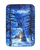 Shavel Home Products Luxury High Pile Oversized Throw, 60 x 80 Inch, Mountain Lodge