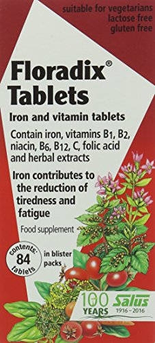 Floradix Iron Supplement Tablets, Pack of 84 Tablets