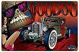 AMELIA SHARPE 30,48 x 20,32 cm Hot Rod Rat Rod Pin Up Girl Metal Sign Hombre Cueva Garaje Body Shop ...