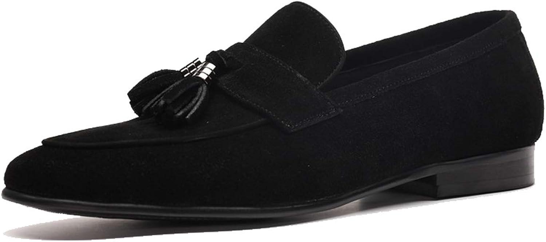 Herrenschuhe Neue Wildleder Matt Quaste Anhnger Slip-On Loafer Schuhe Business Casual Niedrige Schuhe Flache Stiefelschuhe Fahren Schuhe