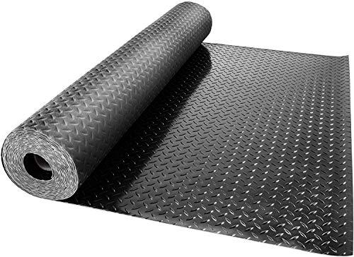VEVOR Protecteur de Plancher 14.7x3.6ft PVC Tapis de Sol pour Garage 2 Rouleaux de Garage Antidérapant en Caoutchouc Anti Dérapant Tapis de Sol de Garage en PVC Epaisseu 450 x 110cm