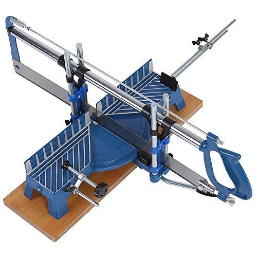 LANTRO JS - Troncatrice di precisione, sega manuale per legno, 22,5°, 30°, 36°, 45° e 90° utensile manuale per sega angolare meccanica per impieghi gravosi