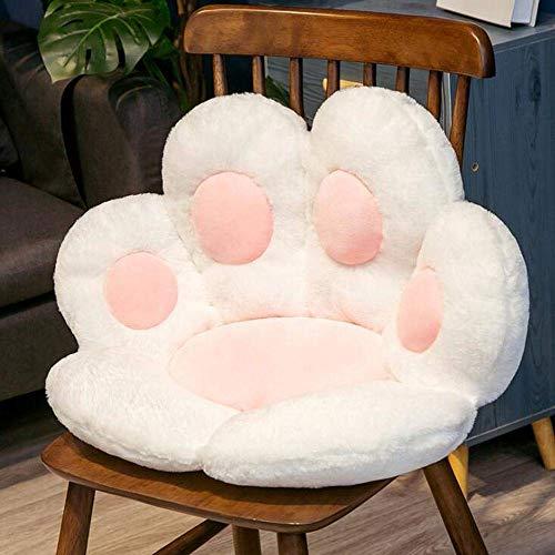 M5I2S0S-T Cojín para asiento de gato, cojín para estudiantes, cojín para silla, cojín de columpio, cojín cálido, sofá y silla de jardín/banco, color blanco