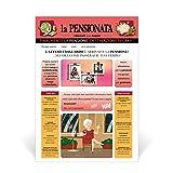 Biglietto Giornale Auguri Pensione (PENSIONATA)
