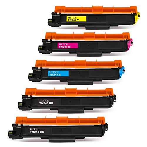 Hitze TN-243 TN-247 Cartuccia Toner TN243 TN247 TN243BK Compatibile per Brother DCP-L3550CDW MFC-L3730CDN MFC-L3770CDW DCP-L3550CDW HL-L3230CDW HL-L3210CW HL-L3270CDW MFC-L3750CDW DCP-L3510CDW