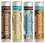 Crazy Rumors 'Chocolate & Spice Mix' Paquete de 4 bálsamos labiales, veganos y 100% naturales,...