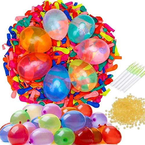 Wasserballons Water Balloons Luftballons, BESTZY 2000 Pcs Wasserbomben Kugel Latex-Wasser Ballons Wasserballons Kit Wasserbomben Nachfüllset für Selbstschließend