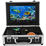 Unterwasserfischen Kamera 9 Zoll Farbmonitor HD 1000TVL Fischfinder Videokamera 4500 mAh 12 STÜCKE...