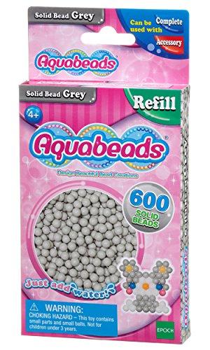 Aquabeads - La Recharge Perles Grise - 32648 - Recharge Couleur - Loisirs Créatifs