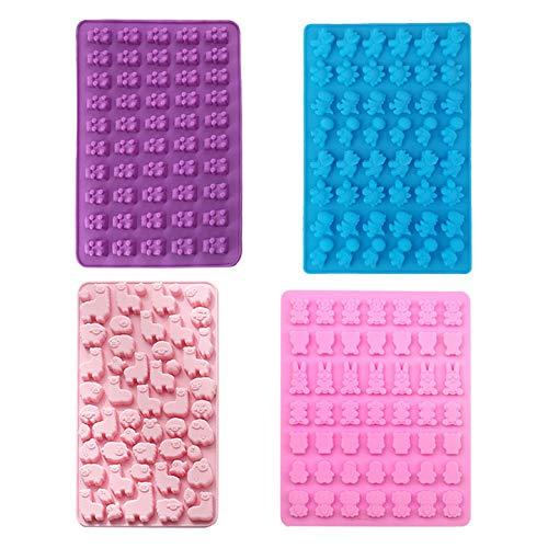 4 Pcs Bear Dinosaur Llama Silicone Mold for Candy Choclate Making