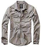 Brandit Hombre Jeans Camisa Riley Denimshirt - Gris (Denim 169), S