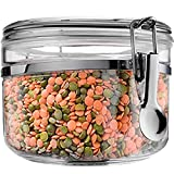 Food Canister Storage Container Organizer - 1 air tight size 28 oz acrylic plastic jar with lid to fulfill your pantry kitchen cabinet organization! Canisters & containers for candy sugar flour cereal