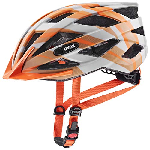 uvex Unisex– Erwachsene, air wing cc Fahrradhelm, grey - orange mat, 52-57 cm