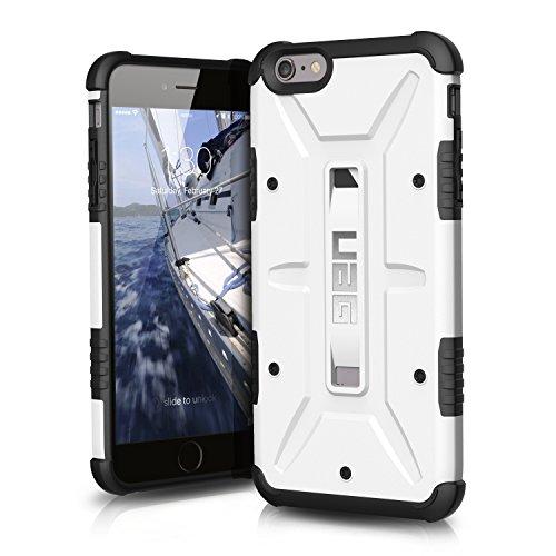 Urban Armor Gear Schutzhülle nach US-Militärstandard für Apple iPhone 6 Plus /6S Plus - weiß [Verstärkte Ecken | Sturzfest | Antistatisch Vergrößerte Tasten] - UAG-IPH6/6SPLS-WHT-VP