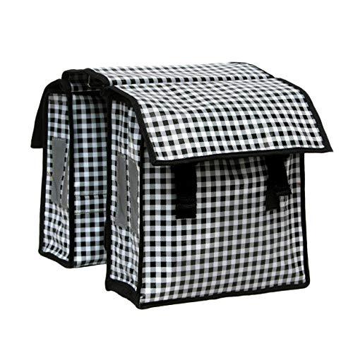 IKURI KinderFahrradtasche Wasserdicht - Große Radtasche für den Gepäckträger Wasserfeste Gepäckträgertasche Seitentasche -Design Vichy