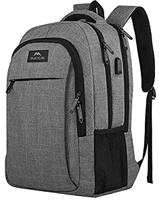Business Travel Backpack, Matein Laptop Backpack with USB charging port for men and women