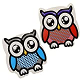 WEKOIL Cute Owl Erasers Magnetic Dry Erase Erasers Whiteboard Eraser Chalkboard Eraser with Felt for Students Teachers Classroom Office Home Pack of 2,Red and Blue