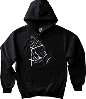 CaliDesign Blessed Hoodie Pullover Sweatshirt Praying Hands Pac Tattoo Legend 6 God Rap NY