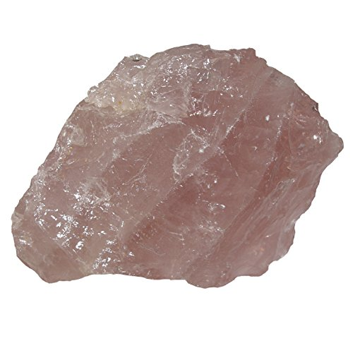 Rosenquarz Rohstein Rohstück aus Madagaskar Größe: XXXL: ca. 700-900 Gramm Computer - Stein gegen Elektrostrahlen (4877)